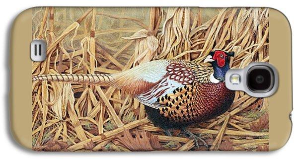 Pheasant Galaxy S4 Case - Ring-necked Pheasant by Ken Everett