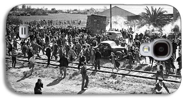 Riots At Cannery Strike Galaxy S4 Case by Underwood Archives