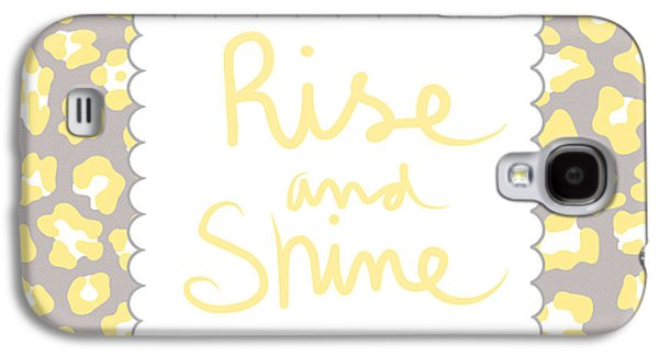 Rise And Shine- Yellow And Grey Galaxy S4 Case