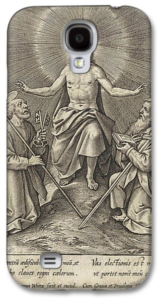 Risen Christ With Peter And Paul, Hieronymus Wierix Galaxy S4 Case