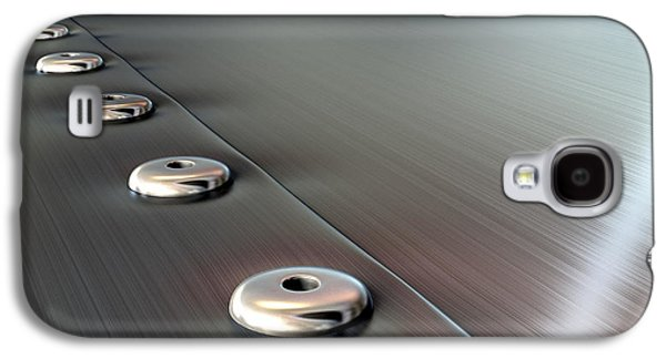 Rivets On Brushed Metal Perspective Galaxy S4 Case
