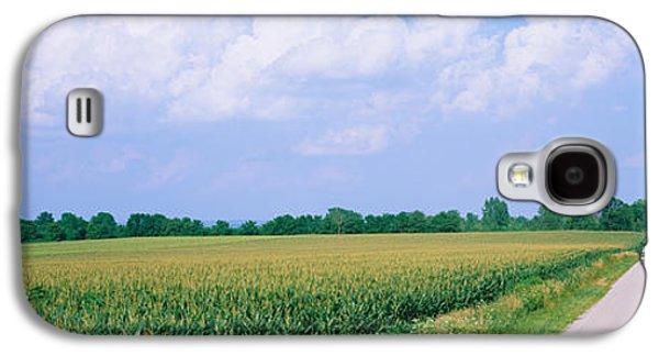 Road Along Corn Fields, Jo Daviess Galaxy S4 Case