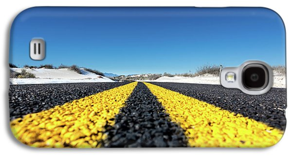 Road Markings On Asphalt Galaxy S4 Case by Wladimir Bulgar