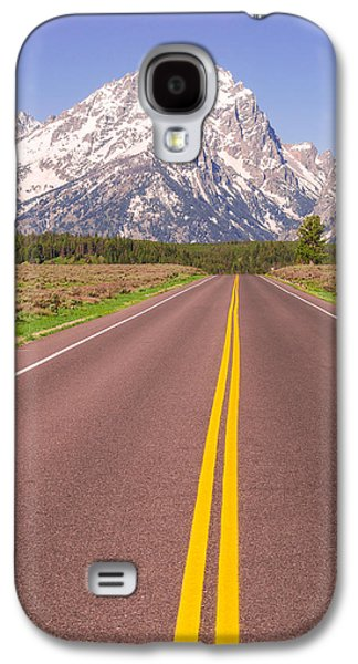 Road To The Tetons Galaxy S4 Case by Aaron Spong