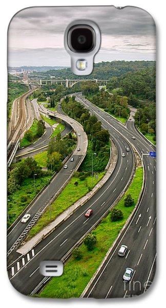 Roads Top View Galaxy S4 Case by Carlos Caetano