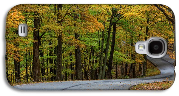Roadway In Autumn In Brown County State Galaxy S4 Case by Chuck Haney