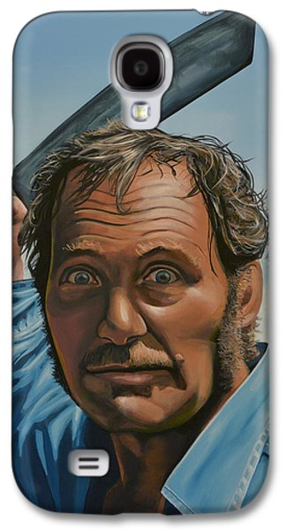 Robert Shaw In Jaws Galaxy S4 Case by Paul Meijering