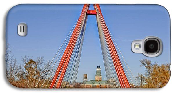Robert Stewart Bridge - Columbus Indiana Galaxy S4 Case by Mountain Dreams