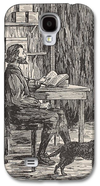 Robinson Crusoe In His Cave Galaxy S4 Case by English School