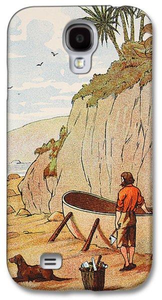 Robinson Crusoe's Canoe Galaxy S4 Case by English School
