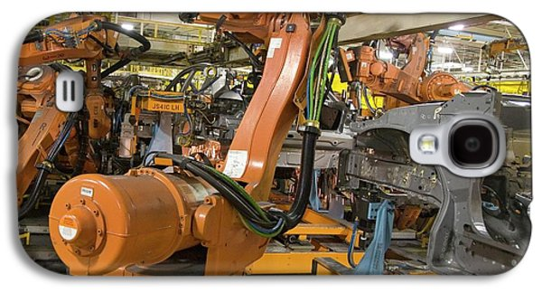 Robot On Car Assembly Production Line Galaxy S4 Case by Jim West