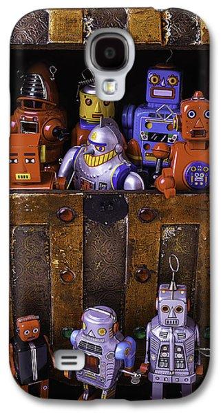 Robots In Treasure Box Galaxy S4 Case