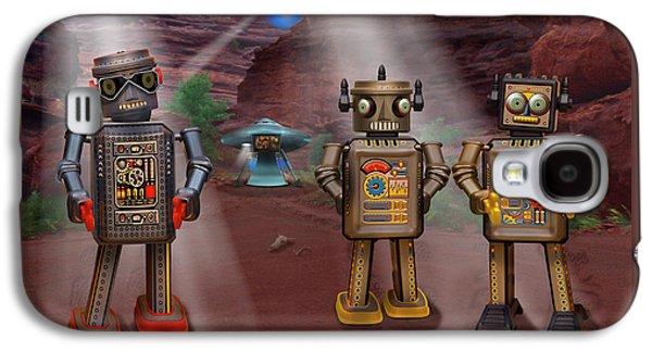 Robots With Attitudes  Galaxy S4 Case