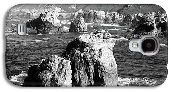 Rock Formations On The Beach, Big Sur Galaxy S4 Case by Panoramic Images