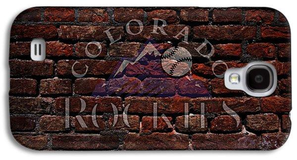 Rockies Baseball Graffiti On Brick  Galaxy S4 Case