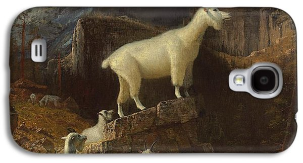 Rocky Mountain Goats Galaxy S4 Case by Albert Bierstadt