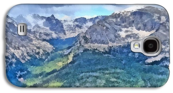 Rocky Mountain National Park Painting Galaxy S4 Case by Dan Sproul
