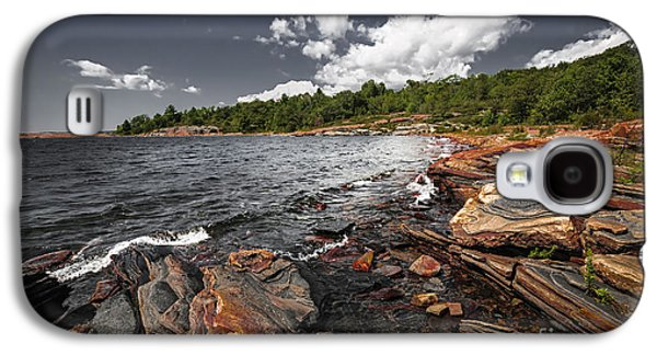 Rocky Shore Of Georgian Bay I Galaxy S4 Case by Elena Elisseeva