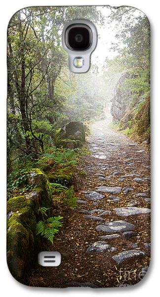 Rocky Trail In The Foggy Forest Galaxy S4 Case by Carlos Caetano