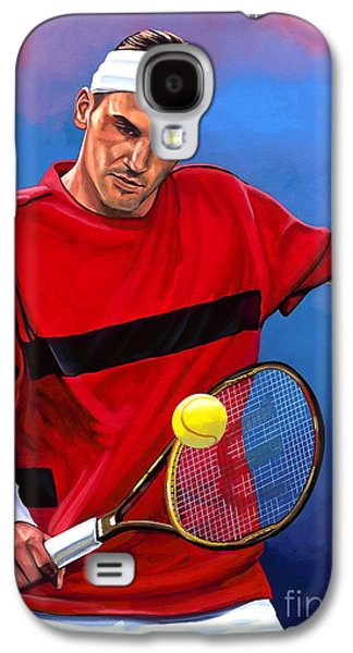 Roger Federer The Swiss Maestro Galaxy S4 Case by Paul Meijering