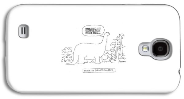 Roget's Brontosaurus Galaxy S4 Case by Mick Stevens