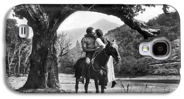 Romantic Kiss On Horseback Galaxy S4 Case by Underwood Archives
