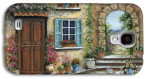 Romantic Tuscan Courtyard Galaxy S4 Case by Marilyn Dunlap