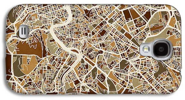 Rome Italy Street Map Galaxy S4 Case