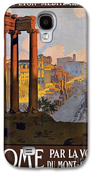 Rome Vintage Travel Poster Galaxy S4 Case by Jon Neidert