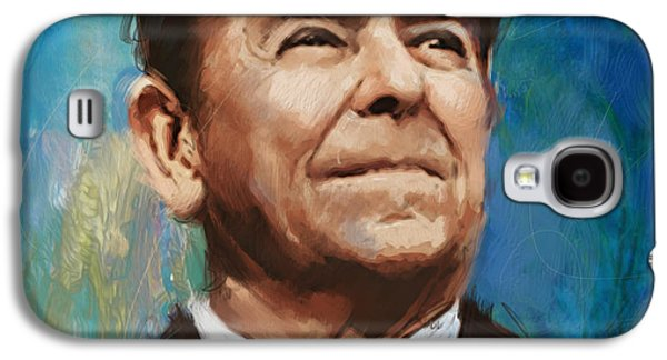 Ronald Reagan Portrait 6 Galaxy S4 Case by Corporate Art Task Force