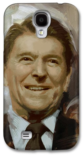 Ronald Reagan Portrait Galaxy S4 Case
