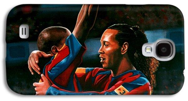 Ronaldinho And Eto'o Galaxy S4 Case by Paul Meijering