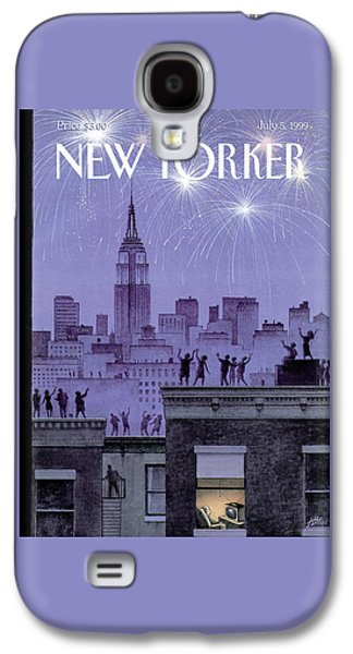 Rooftop Revelers Celebrate New Year's Eve Galaxy S4 Case