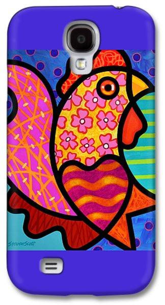 Rooster Dance Galaxy S4 Case by Steven Scott