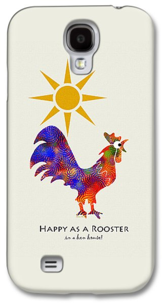 Rooster Pattern Art Galaxy S4 Case