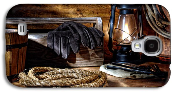 Rope In The Ranch Barn Galaxy S4 Case by Olivier Le Queinec