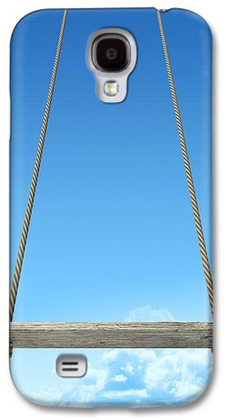 Rope Swing With Blue Sky Galaxy S4 Case by Allan Swart