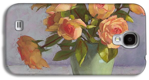 Still Life Pastels Galaxy S4 Cases - Rose Bouquet Galaxy S4 Case by Sarah Blumenschein
