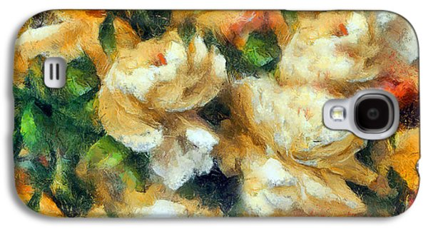 Rose Garden Abstract Expressionism Galaxy S4 Case by Georgiana Romanovna
