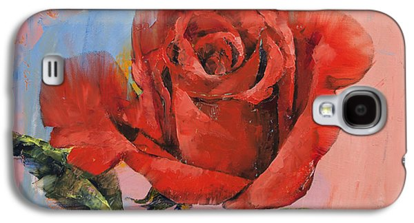 Rose Galaxy S4 Case - Rose Painting by Michael Creese