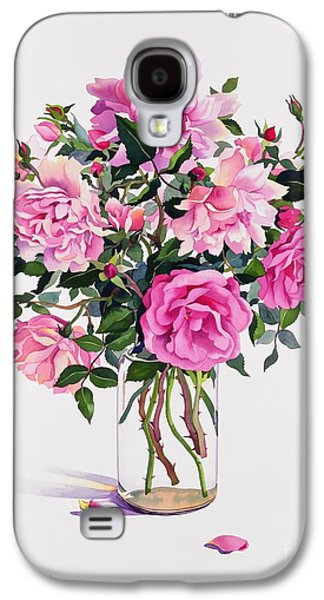 Roses In A Glass Jar  Galaxy S4 Case by Christopher Ryland