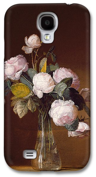 Roses On A Stone Ledge Galaxy S4 Case by Jean-Louis Prevost