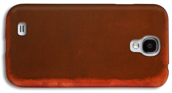 Rothko's Mulberry And Brown Galaxy S4 Case by Cora Wandel
