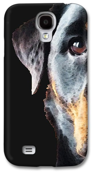 Rottie Love - Rottweiler Art By Sharon Cummings Galaxy S4 Case by Sharon Cummings