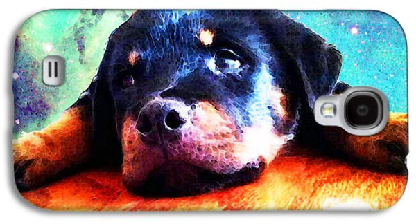 Rottie Puppy By Sharon Cummings Galaxy S4 Case by Sharon Cummings