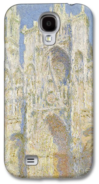 Impressionism Galaxy S4 Case - Rouen Cathedral West Facade by Claude Monet