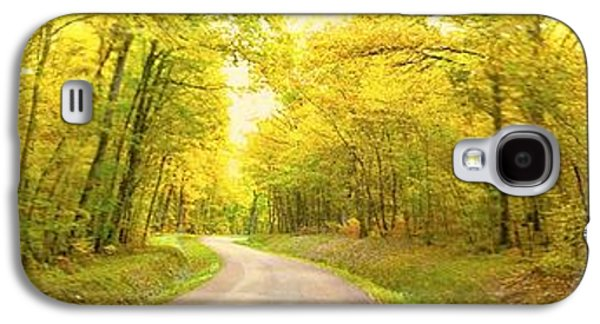 Galaxy S4 Case featuring the photograph Route Dans La Foret Jaune by Marc Philippe Joly