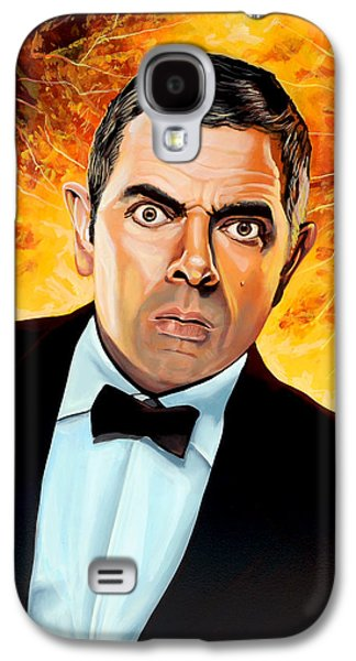 Rowan Atkinson Alias Johnny English Galaxy S4 Case by Paul Meijering