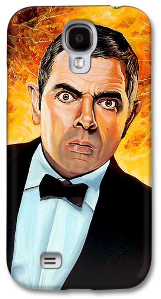 Rowan Atkinson Alias Johnny English Galaxy S4 Case by Paul Meijering