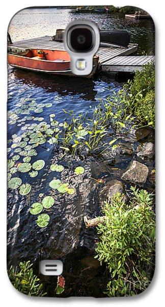 Rowboat At Lake Shore Galaxy S4 Case by Elena Elisseeva